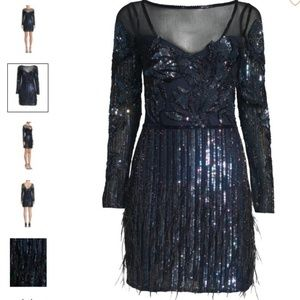Parker Bailey Embellished Mesh Dress - New W/Tag!